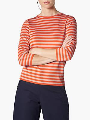 LK Bennett L.K.Bennett Estera Stripe T-Shirt, Red