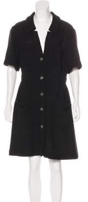 Chanel Tweed Knee-Length Dress Black Tweed Knee-Length Dress