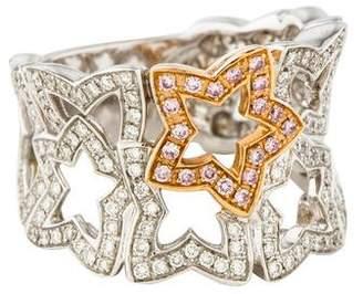 Ring 18K Diamond Open Star Band