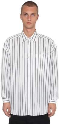 Ami Alexandre Mattiussi Striped Cotton Poplin Shirt