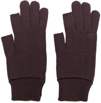Rick Owens knitted gloves