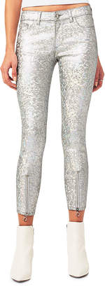DL1961 Premium Denim Florence Metallic Zip-Cuff Jeans