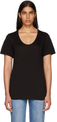 Alexander Wang Black Drapey T-Shirt