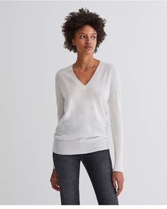 AG Jeans The Uma V Neck - Ivory Dust