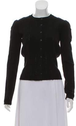 Alaia Wool Knit Cardigan