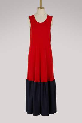 Maison Margiela Two-tone silk dress