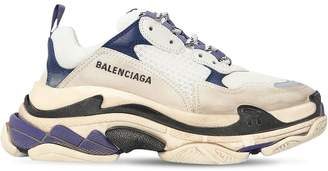Balenciaga 60mm Triple S Leather & Nylon Sneakers