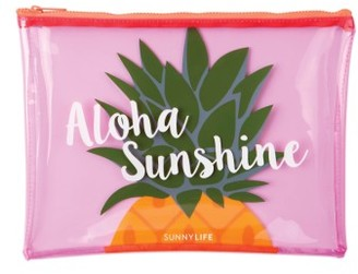 Sunnylife Graphic Beach Pouch - Pink $12 thestylecure.com