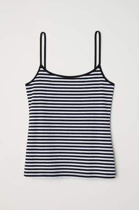 H&M Jersey Camisole Top - Black/white striped - Women