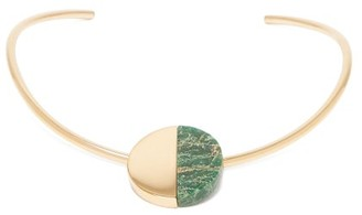 Jil Sander Stone Embellished Choker Necklace - Womens - Green