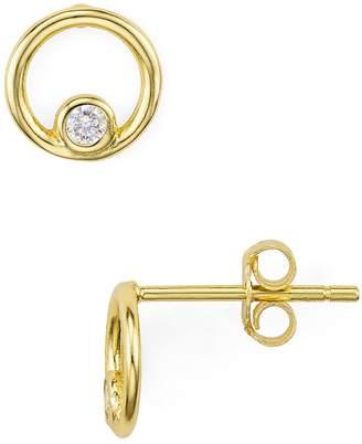 Aqua Pave Loop Stud Earrings - 100% Exclusive