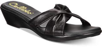 Callisto Staunton Slide Wedge Sandals