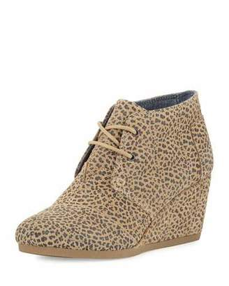 TOMS Suede Desert Wedge Bootie, Cheetah $89 thestylecure.com