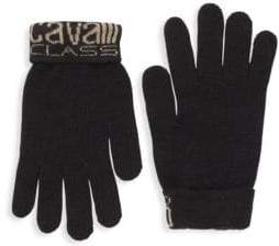 Class Roberto Cavalli Logo Cuff Knitted Gloves