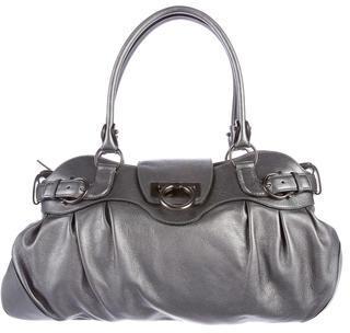 Salvatore FerragamoSalvatore Ferragamo Metallic Marisa Shoulder Bag