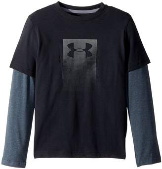 Under Armour Kids Knit 2-in-1 Long Sleeve Boy's Long Sleeve Pullover