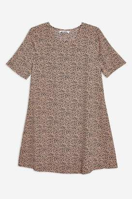 Glamorous **Dalmatian Print T-Shirt Dress