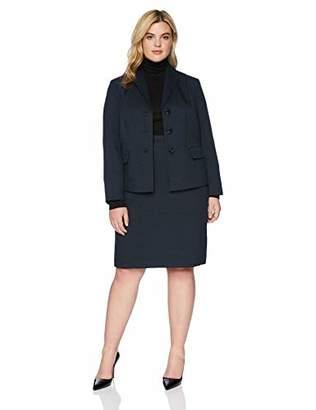 8b09118d079 Le Suit Women s 3 Button Shawl Collar Novelty Skirt Suit