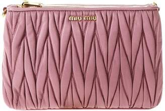 Miu Miu Club Quilted Leather Clutch