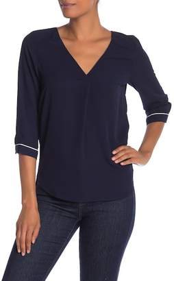 Vero Moda Philippa Piping 3/4 Length Sleeve Blouse