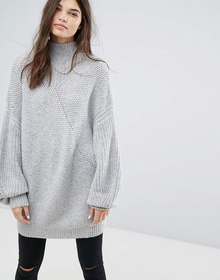 Weekday Cashmere Mix Knit Long Sweater