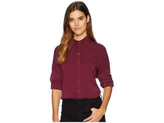Michael Stars Rylie Rayon Boxy Button Up Shirt