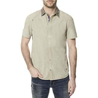 Buffalo David Bitton Men's Simogenat Short Sleeve Twill Button Down Shirt