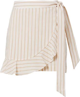Intermix Remy Ruffle Striped Skort