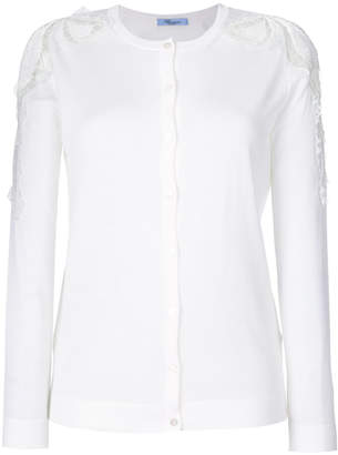 Blumarine lace panel cardigan
