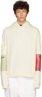 Raf Simons White Additional Sleeve Hoodie