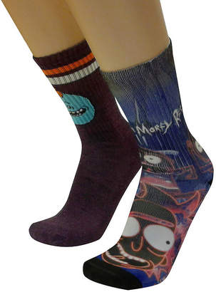 Novelty Licensed Rick and Morty 2 Pair Crew Socks
