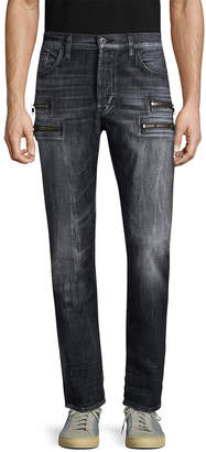 Hudson Jeans Jeans Zipper Straight-Leg Jeans