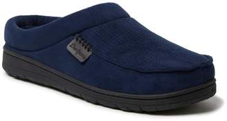 Dearfoams Men's Perforated Microsuede Clog Slippers