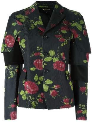 Comme des Garcons flower print jacket