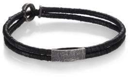 M. Cohen Small Bar Vinyl& Silver Bracelet