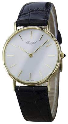 Chopard 18K Gold & Leather Swiss Made Quartz 32mm Mens Watch c1990