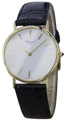 Chopard 18K Gold & Leather Swiss Made Quartz 32mm Mens Watch c1990
