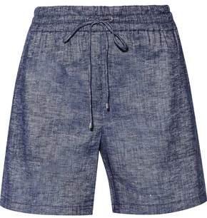 Theory Cortlandt Linen-Blend Chambray Shorts