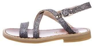 Pépé Toddler girls' Glitter Leather Sandals