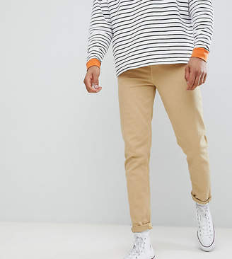 Asos DESIGN Tall Tapered Jeans In Stone