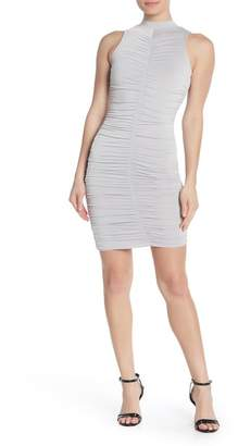 Love by Design Slinky Ruched Mock Neck Bodycon Dress