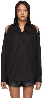 Alexander Wang Black Shoulder Zippers Shirt