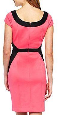 JCPenney Cap-Sleeve Colorblock Sheath Dress