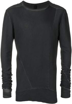 Army Of Me asymmetric panel slim-fit sweater