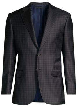 Brioni Plaid Virgin Wool Sport Jacket