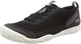 Keen Women's Cnx Mercer Lace II Running Shoes, Black/Gargoyle