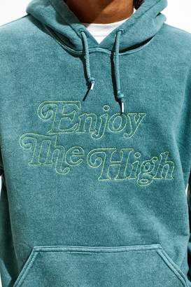 Urban Outfitters Enjoy The High Overdyed Hoodie Sweatshirt