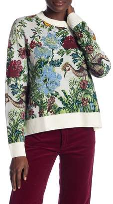 Paul & Joe Sister Floral Print Knit Sweater