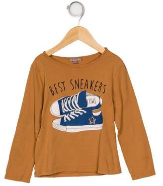Emile et Ida Girls' Printed Long Sleeve Top