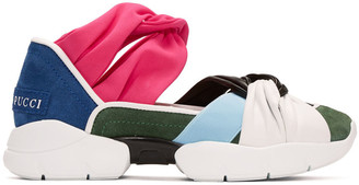 Emilio Pucci Multicolor Colorblock Sneakers $555 thestylecure.com